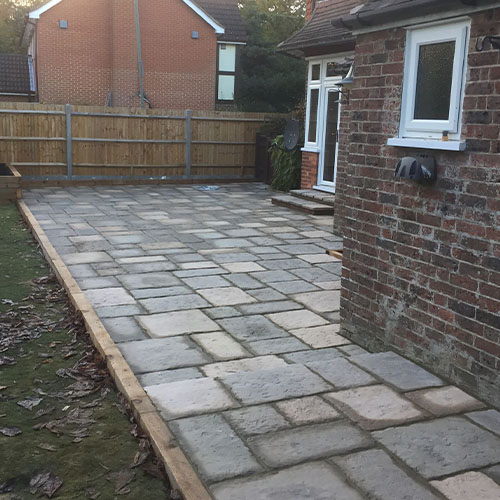 SNT Landscapes Patios and Paving Horley Cream